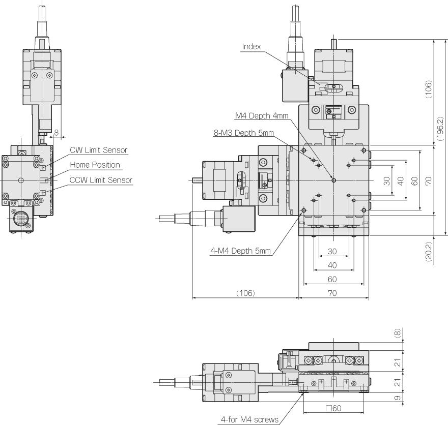 36° 连接器 圆形20针(广濑: rp13a-12ra-20pc) 平台接线类型 jh 大修